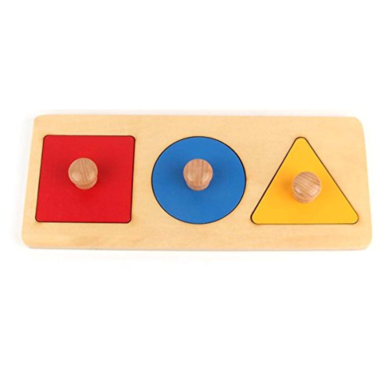 モンテッソーリ木製図形パズルボード早期教育素材Kids Toy Shape & Color Sorter Fly whale