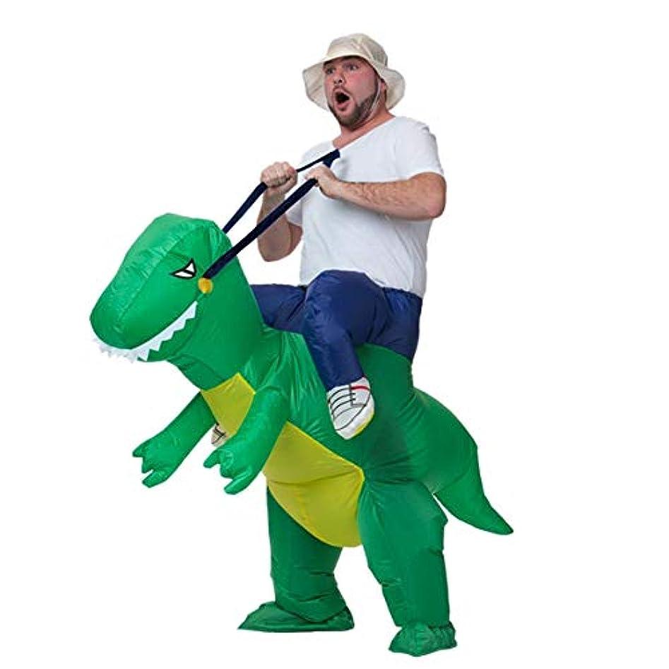 子豚豚肉普通の大人のための面白い膨脹可能な動物の恐竜パーティーコスプレブローアップコスチューム-グリーン