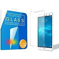 [MS factory] HUAWEI MediaPad T2 7.0 Pro ブルーライトカット 90% ガラスフィルム 液晶保護 ファーウェイ メディアパッド ガラス フィルム 強化ガラス ラウンドエッジ 90日保証 FD-MPt2-7P-BLUE-AB