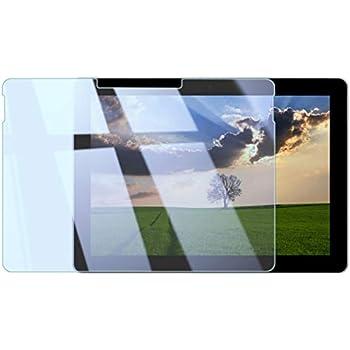 Surface Go 90% ブルーライトカット 10インチ対応 大きめサイズ 1枚組 日本メーカー 全面保護 大きめサイズ ガラスフィルム 強化ガラス 9H 実機測定済 [指紋防止 気泡ゼロ 防汚] 0.3mm 2.5D 液晶 保護フィルム マイクロソフト サーフェス SurfaceGo Blue1
