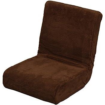 アイリスオーヤマ 座椅子 & 枕 2way ふわふわ フロアチェア コンパクト 折りたたみ収納 ブラウン ZC-9