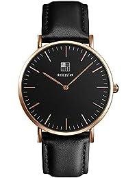 [ルビウスタン]RUBEUSTAN 腕時計 レディース 女性 シンプル (ブラック)