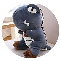 かわいい恐竜ぬいぐるみ恐竜人形人形ソフトボディ枕大恐竜人形子供ギフト,ブルー恐竜(ダウンコットン),55センチ