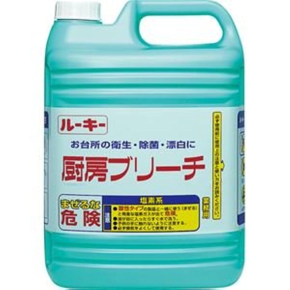 鎮静剤ジャンプぼろ(まとめ) 第一石鹸 ルーキー 厨房ブリーチ 業務用 5kg 1本 【×5セット】