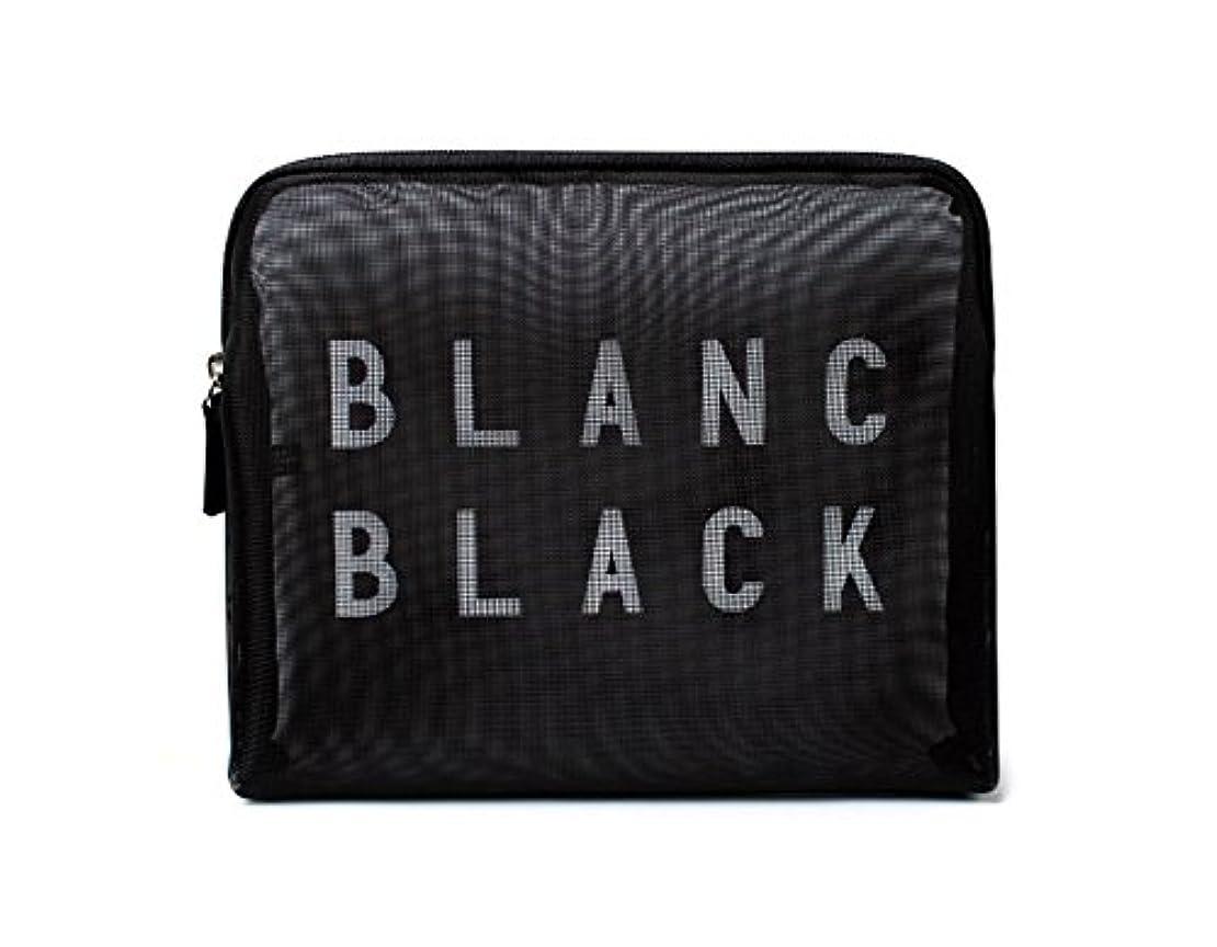 核凝縮する衝動[ブランク ブラック] Blanc Black メッシュ化粧ポーチ メイクポーチ 風呂セットのポーチ 旅行出張用ポーチ 海外直送品 Mesh Pouch [並行輸入品]