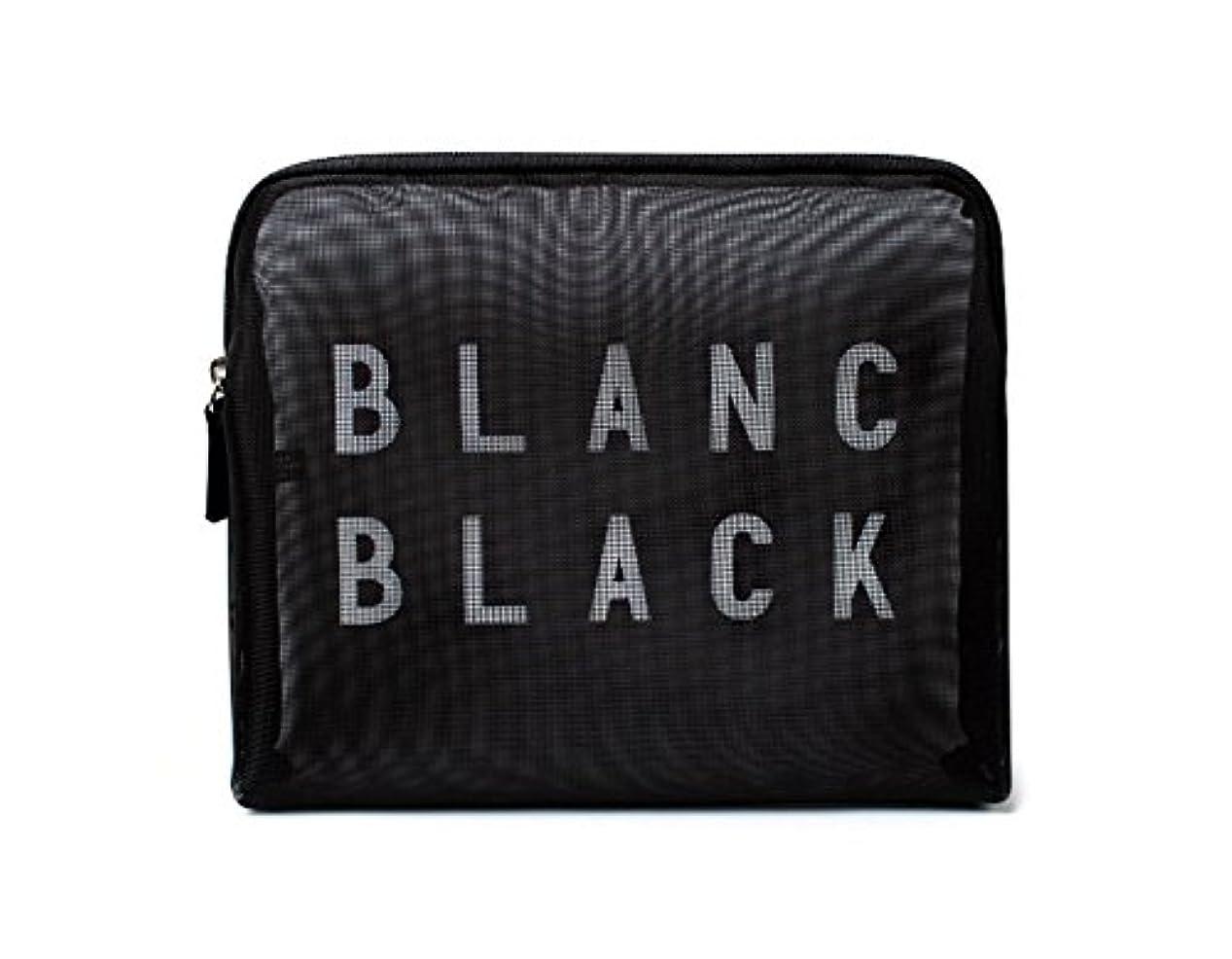 傾くコンベンション挨拶する[ブランク ブラック] Blanc Black メッシュ化粧ポーチ メイクポーチ 風呂セットのポーチ 旅行出張用ポーチ 海外直送品 Mesh Pouch (S, ブラック) [並行輸入品]