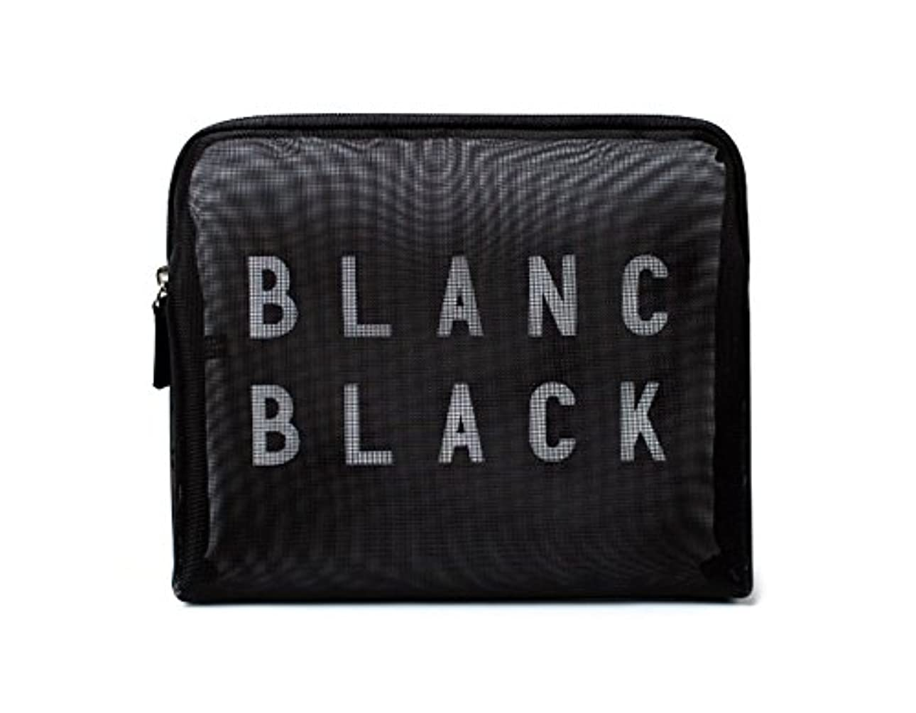 水分クマノミベーリング海峡[ブランク ブラック] Blanc Black メッシュ化粧ポーチ メイクポーチ 風呂セットのポーチ 旅行出張用ポーチ 海外直送品 Mesh Pouch [並行輸入品]