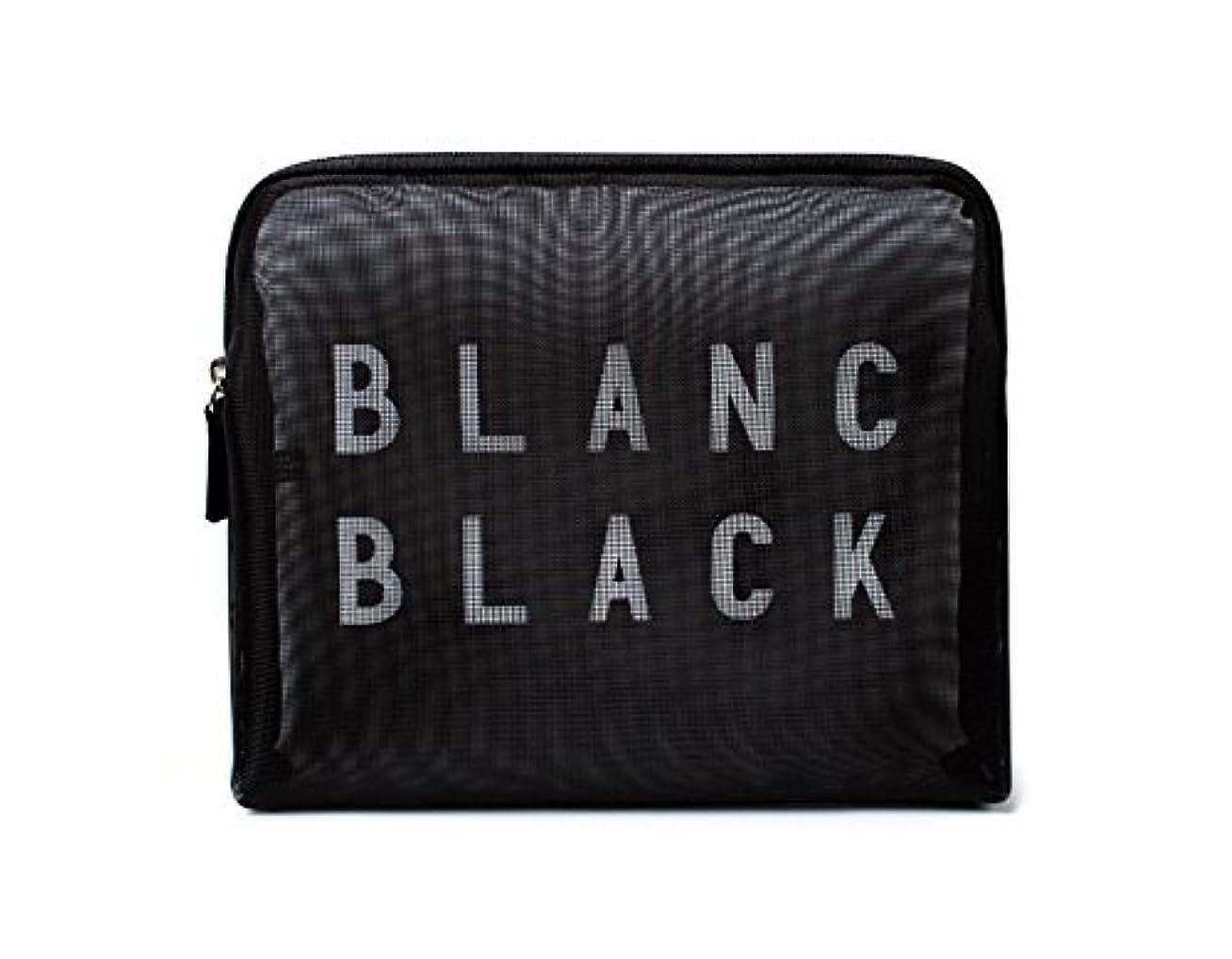 対象しみ法律[ブランク ブラック] Blanc Black メッシュ化粧ポーチ メイクポーチ 風呂セットのポーチ 旅行出張用ポーチ 海外直送品 Mesh Pouch [並行輸入品]
