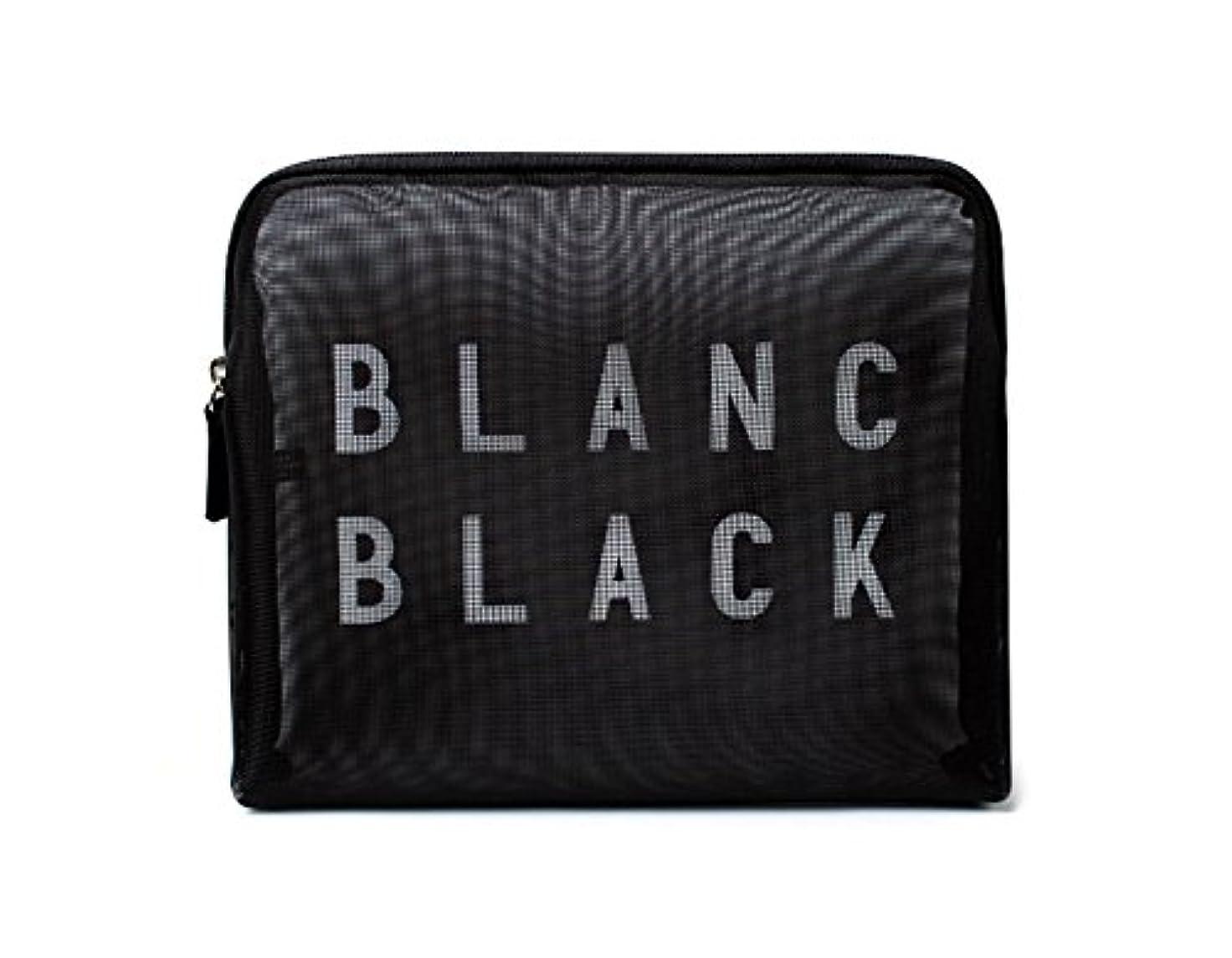 光のミニ人に関する限り[ブランク ブラック] Blanc Black メッシュ化粧ポーチ メイクポーチ 風呂セットのポーチ 旅行出張用ポーチ 海外直送品 Mesh Pouch [並行輸入品]