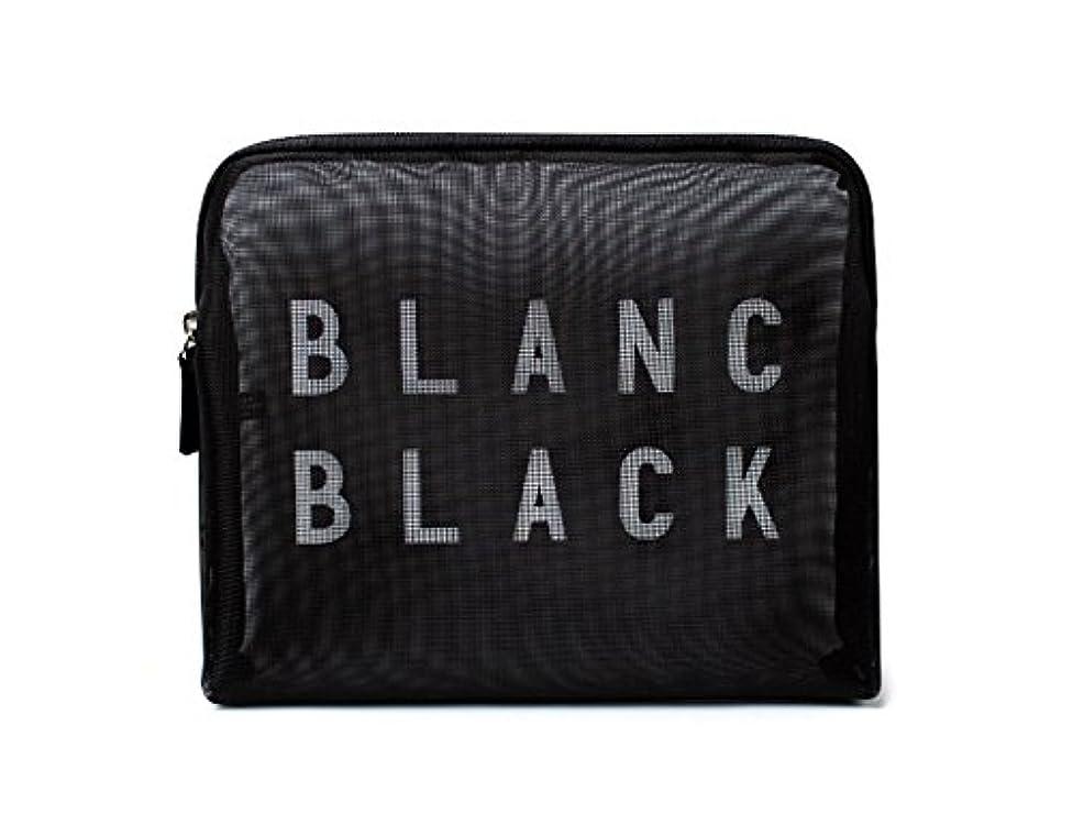 お互い縁一流[ブランク ブラック] Blanc Black メッシュ化粧ポーチ メイクポーチ 風呂セットのポーチ 旅行出張用ポーチ 海外直送品 Mesh Pouch [並行輸入品]