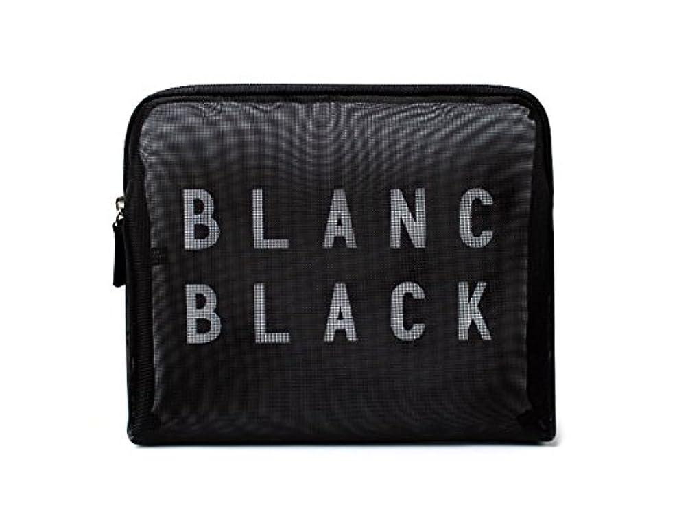 日常的に肌寒い頭[ブランク ブラック] Blanc Black メッシュ化粧ポーチ メイクポーチ 風呂セットのポーチ 旅行出張用ポーチ 海外直送品 Mesh Pouch [並行輸入品]