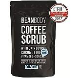 [Bean Body ] 豆のボディコーヒースクラブ、ココナッツ220グラム - Bean Body Coffee Scrub, Coconut 220g [並行輸入品]