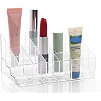 Linyuan 24 Sections Clear アクリル Cosmetic Storage Box Lipstick Rack A77