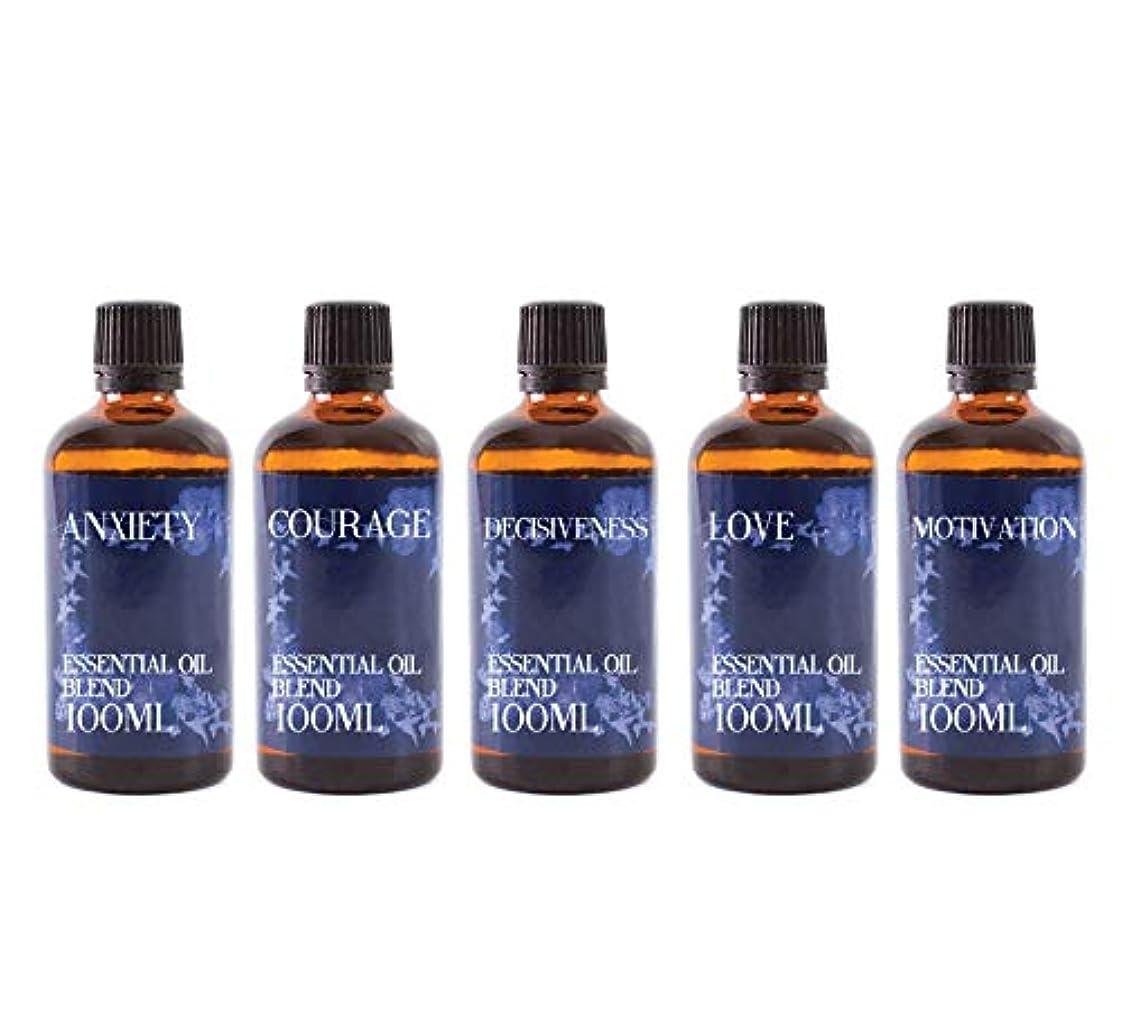 貯水池キャンプ膜Mystix London | Gift Starter Pack of 5 x 100ml - 21st Century Struggles - Essential Oil Blends