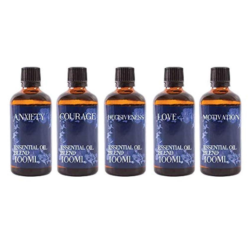 肘夏結紮Mystix London | Gift Starter Pack of 5 x 100ml - 21st Century Struggles - Essential Oil Blends
