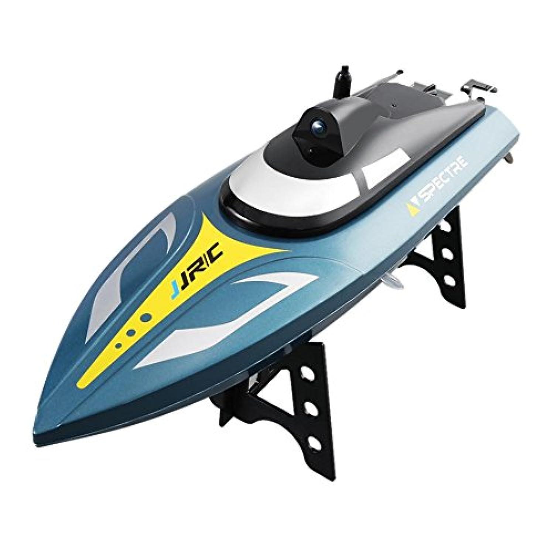Slec tech RCスピードボートラジコンボートリモートコントロールボートレーシングスピードボートJJRC S4大型高速スピードボートWIFIリアルタイム画像伝送航空写真レーススピードボート水電気玩具