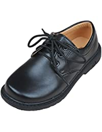 【ミコプエラ】 子供 靴 フォーマル シューズ ツヤなし オックスフォード 男の子 ジュニア キッズ レザー 履きやすい 紐靴 革 フラット 入学式 卒業式 結婚式 発表会 七五三