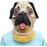 犬ヘッドマスク、デラックスノベルティハロウィン衣装パーティー動物用子供大人ファンシードレス仮装パーティーコスプレ