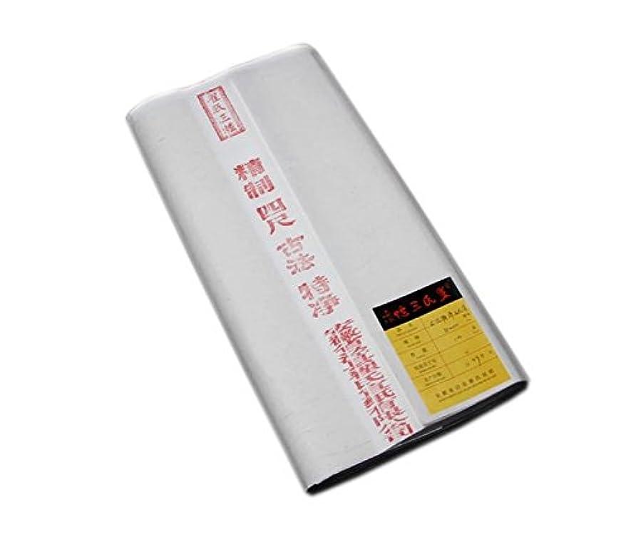 混乱させる供給正当な空白の書道玄紙墨ライスペーパー、50枚