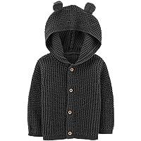 Carter's Baby Boy's Button-Front Cardigan - 12 Months Dark Grey