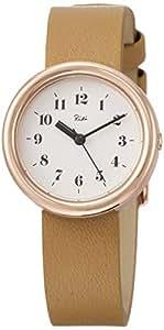 [セイコーウォッチ] 腕時計 リキ 白文字盤 ライトブラウン牛革バンド AKQK449 レディース ブラウン