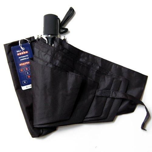 折り畳み傘 自動開閉 自動開閉式折りたたみ傘 ワンタッチ式折りたたみ傘 【ブラック】