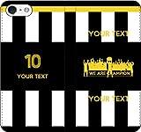 iPhone/Xperia/Galaxy/他機種選択可:部活/好きな番号/文字をカスタム/サッカー手帳ケース(デザイン1:IT_03) 14 全機種対応用【Mサイズ】