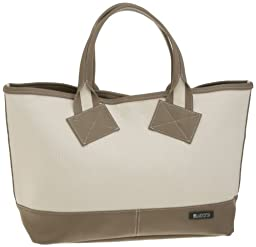 Massive Court Tote M: Gray Beige