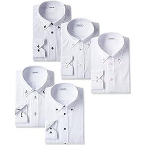 (アトリエサンロクゴ) atelier365 ワイシャツ 選べる8種類 5枚セット長袖 /at101-4L-47-86-AT101-Aset-2016