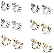 BEAUTY PLAYER Earring Converter, Vertical Type, Set of 12, Handicraft, Handmade, Parts, No Ear Holes, Accessor