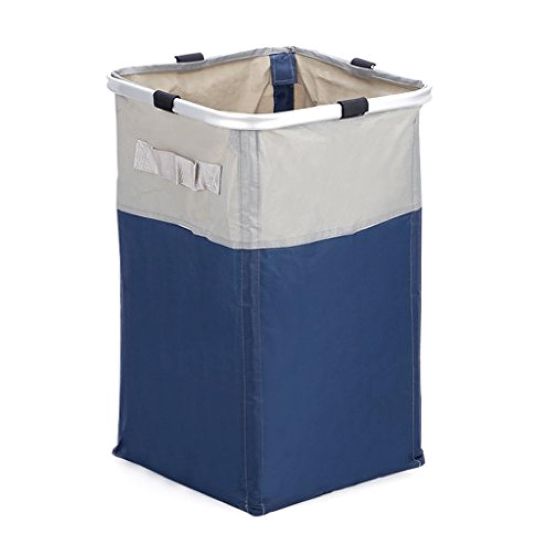 バスルーム洗濯バスケット、汚れた服のおもちゃの収納バスケット、家庭用大型ファブリック防水収納バスケット