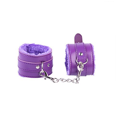 Langba  SMグッズ 手錠 SM束縛具 大人のおもちゃ 男女兼用紫