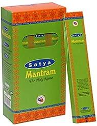 Satya Mantram お香スティック Agarbatti 180グラムボックス | 箱入り12パック | 輸出品質