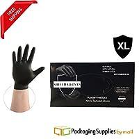 ブラックニトリルパウダーフリー手袋non-medical size-xlarge 3.5Mil 2000個by Shield Gloves