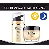 OLAY TOTAL EFFECTS 7IN ONE NORMAL UV SPF15【DAY CREAM】50g+OLAY TOTAL EFECTS NIGHT CREAM 【NIGHT CREAM】50g [並行輸入品]