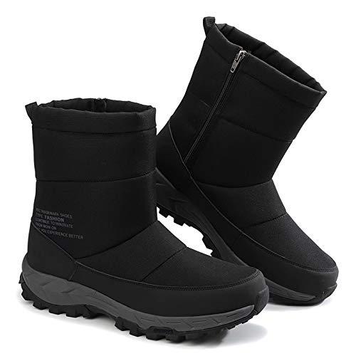 [ZanYeing] 6cm防水仕様 スノーブーツ サイドジッパー ウインターブーツ 裏ボア メンズ 防滑 ロングブーツ キルティング 幅広 レインブーツ 超防寒 滑り止め 綿靴 大きいサイズ 長靴 中綿 ダウンブーツ 雪靴