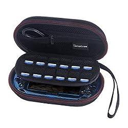 [改善版] Smatree P100L 旅行やホームストレージケース PS Vita2000 1000  PSP 3000 + 保護カバー及び周辺機器 の収納ケース 特設布が付き
