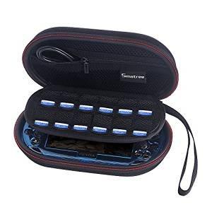 [改善版] Smatree P100L 旅行やホームストレージケース PS Vita2000/1000/ PSP 3000 + 保護カバー及び周辺機器 の収納ケース 特設布が付き
