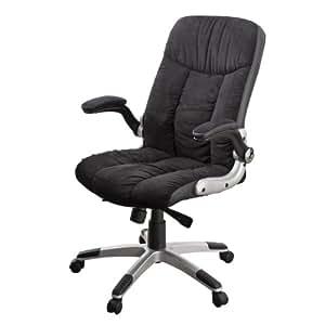サンワダイレクト オフィスチェア パソコン チェア ブラック 150-SNC079BK 可動肘 ロッキング調整