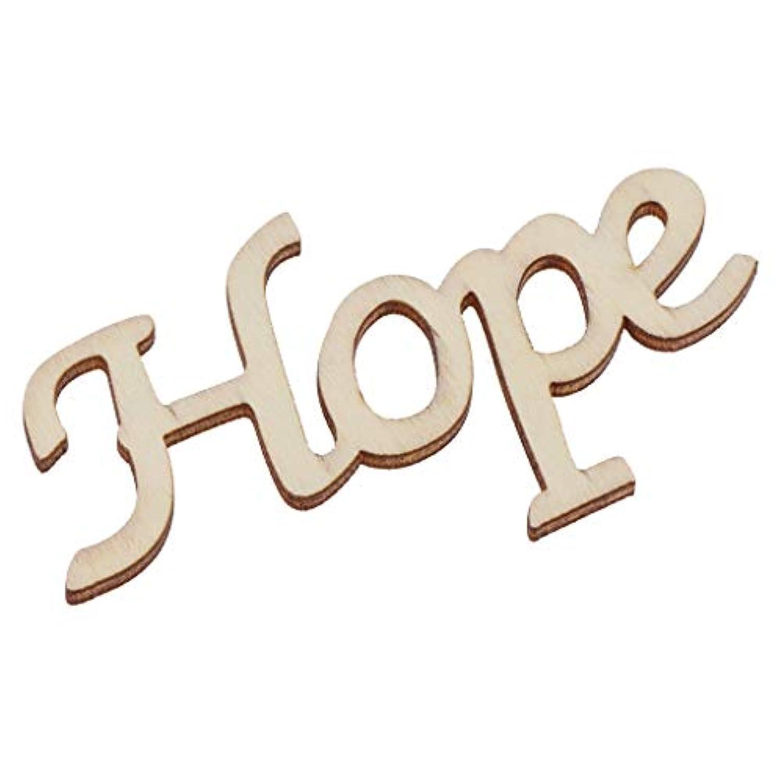 Baoblaze 木製工芸品 希望 HOPE 無塗装 DIY ?ハンガー タグ