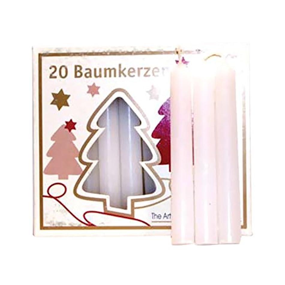 小屋求人採用ホワイトAzureGreen C4WTチャイムキャンドル - 20パック