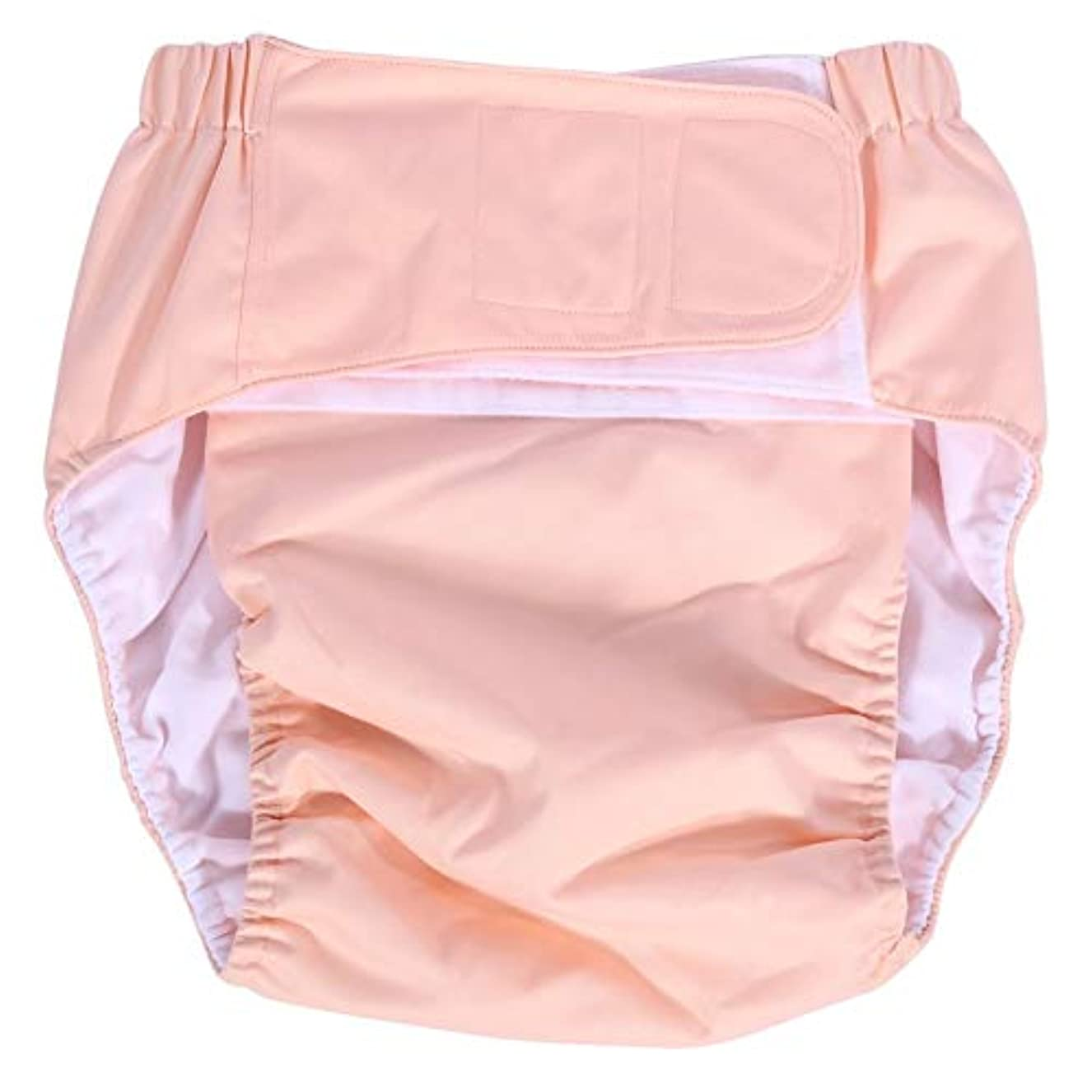霧深いモンゴメリー群集大人用おむつ、洗える再利用可能な超吸収性おむつ中失禁下着ナプキン大人用パンツ (Color : ピンク)