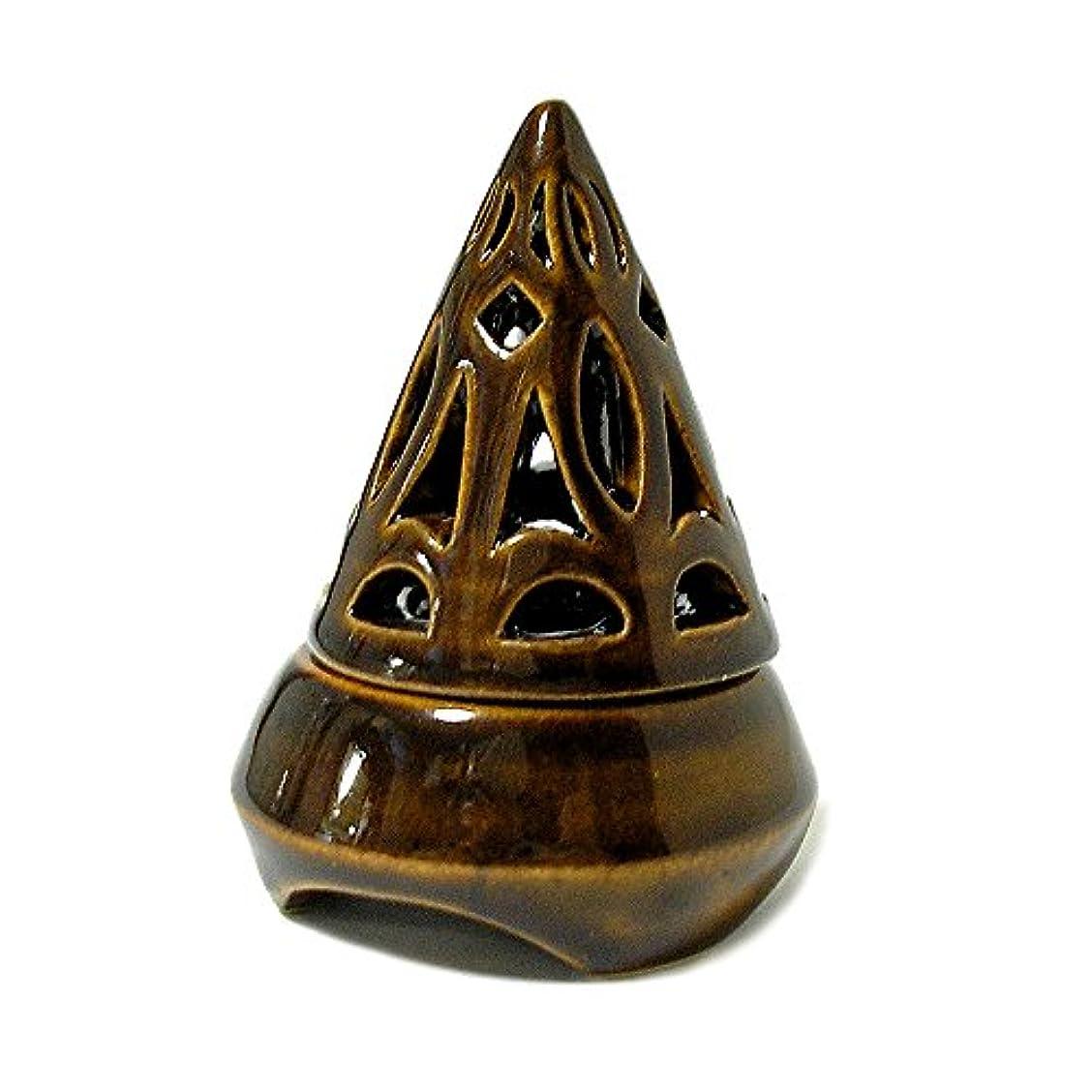 特別なきょうだい楕円形香炉コーン型 ブラウン インセンスホルダー お香立て アジアン雑貨 並行輸入品(ノーブランド品) [並行輸入品]
