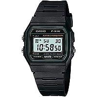Casio Men's Retro Classic Black Resin Microlight Watch F-91W-3 F91W3