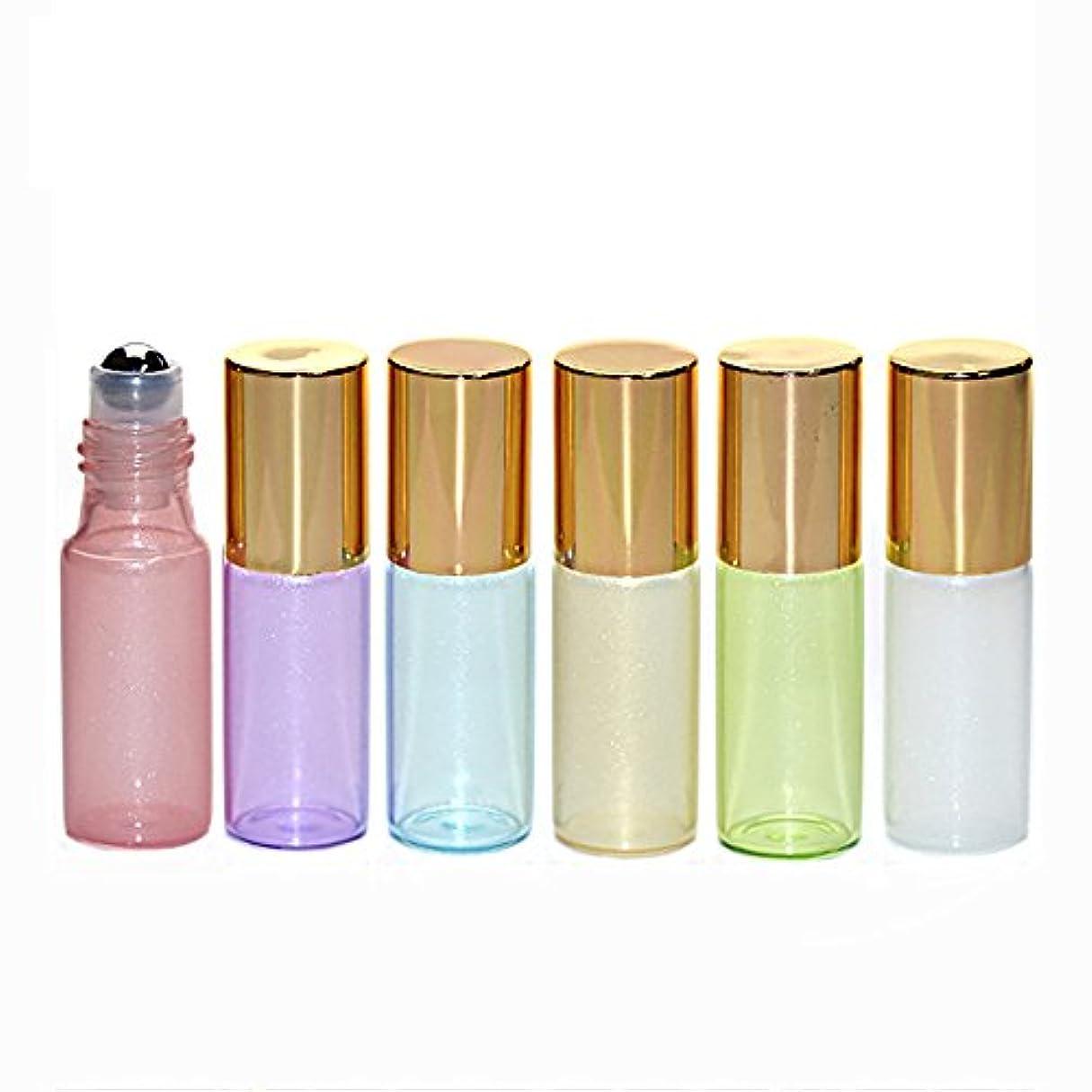 簡潔な正しく経過Pinkiou ロールオンボルト ガラス製  5ml 6個 遮光スプレー  6色セット