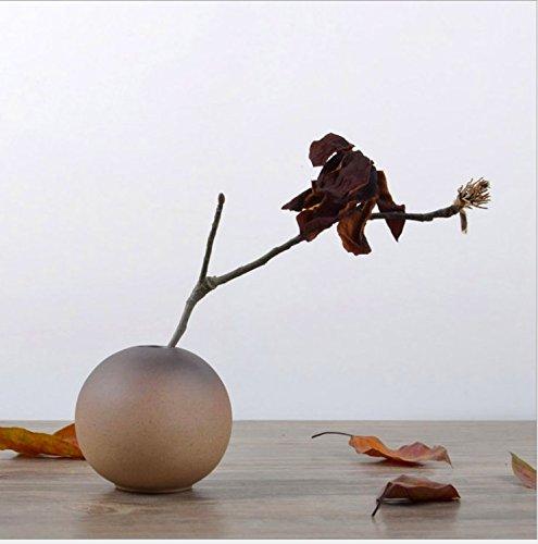 花瓶 陶器 フラワーベース 花器 花入 一輪挿し おしゃれ 和風 小さい ミニ 花瓶 丸型