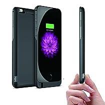iphone 7 6s 6 モバイルバッテリー 内蔵 充電 ケース ( 大容量 10000 mAh 薄型 軽量 ) スタンド 機能 付 バッテリーケース ( CamelCharger ) (パールホワイト)