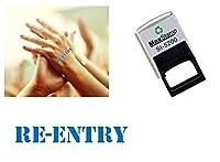 再突入Hand–イベント、パーティ、パブ、特別展示会セルフInkingスタンプ–最適な用途祭ブルースタンプ28x 6mm