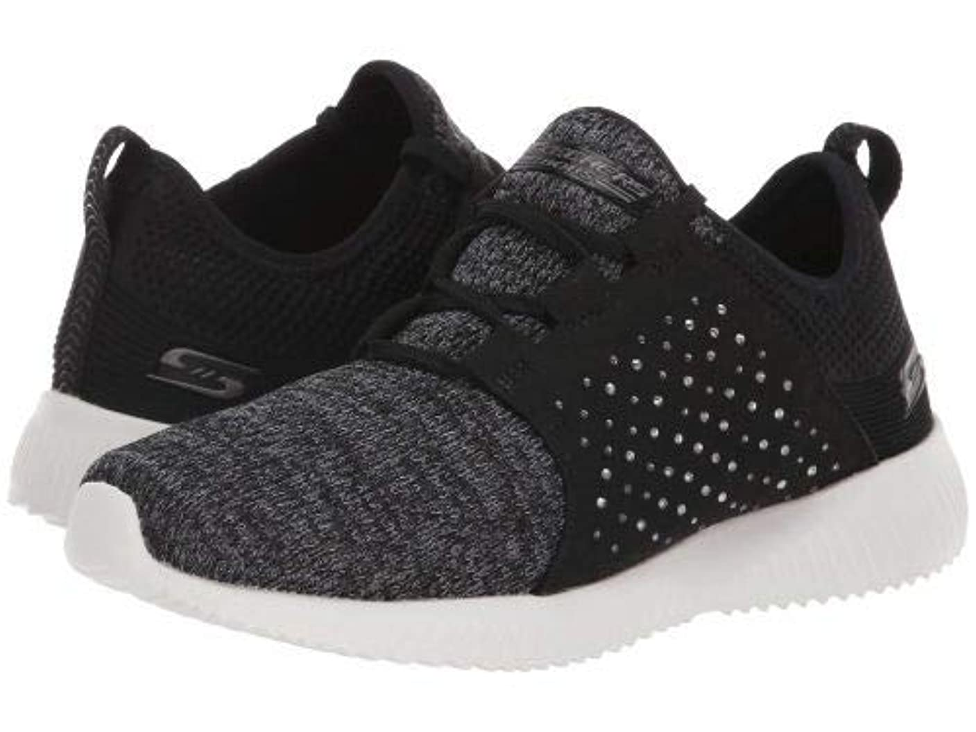 慣習囲む化石BOBS from SKECHERS(ボブス スケッチャーズ) レディース 女性用 シューズ 靴 スニーカー 運動靴 Bobs Squad - Black/Charcoal [並行輸入品]