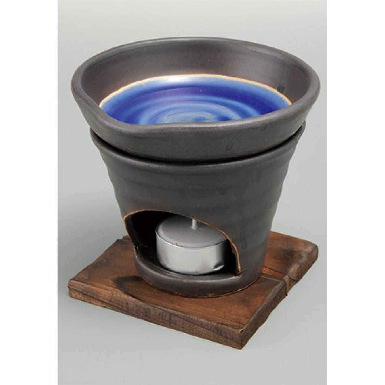 昆虫を見る論理的にチャレンジ香炉 黒釉 茶香炉(青) [R11.8xH11.5cm] HANDMADE プレゼント ギフト 和食器 かわいい インテリア